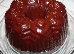 Chocolate Raspberry Balsamic Glazed Olive Oil Bundt Cake