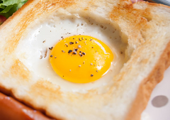 Oven Baked Eggs in a Brioche Basket