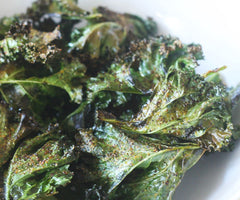 Oven Baked Spicy Harissa Olive Oil Kale Chips
