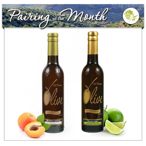 Blenheim Apricot White Balsamic Condimento and Persian Lime Infused Oil