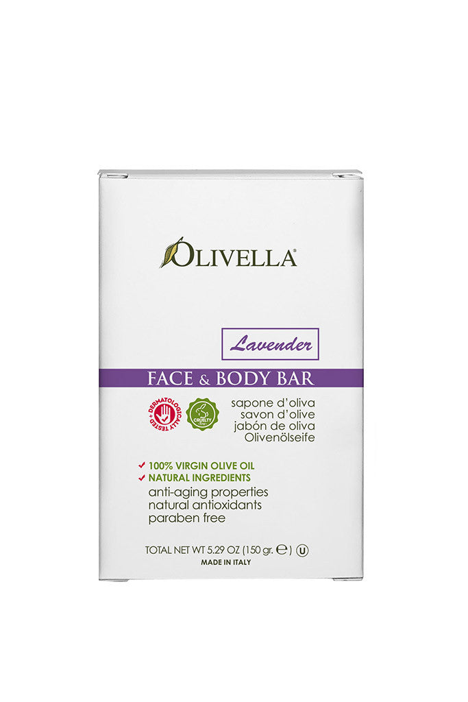 Olivella Face & Body Bar Soap 150 g - Lavender