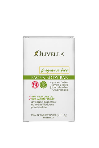 Olivella Face & Body Bar Soap Fragrance Free 100 g