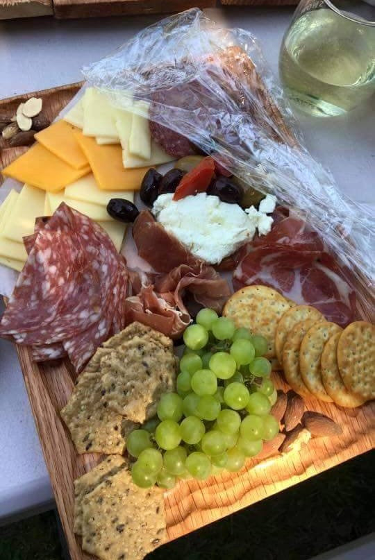 Event add-on: cheese platter & glass of wine
