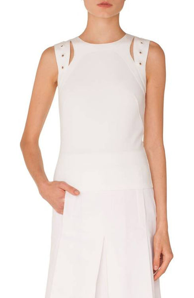 Akris Punto Tank Top -  Off-White