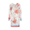 Weill Dress - Coral/Red/Blue Print