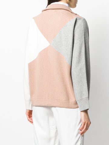 Fabiana Filippi Cardigan - Caramel/Off-White/Grey