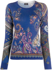 Etro Sweater - Cobalt Blue/Gold