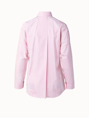Akris Punto Blouse - Pink/Off-White