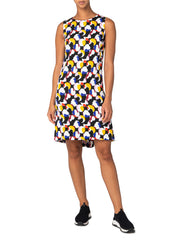 Akris Punto Dress - Black/Purple/Red