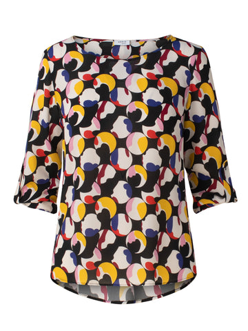 Akris Punto Blouse - Black/Purple/Red