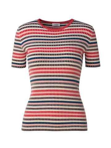 Akris Punto Sweater - Pink/Blue/Black