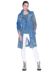 Akris Punto Rain Coat - Blue/Sand