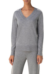 Akris Punto Sweater - Grey/Cream