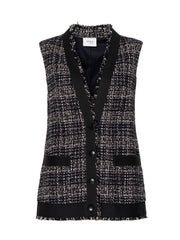 Akris Punto Vest - Navy/Black/White