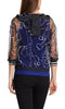 Marc Cain Leisure Top -Blue/Black/White