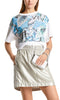 Marc Cain Top - Blue/White/Print