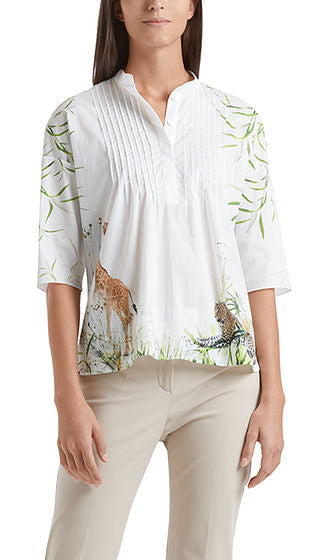 Marc Cain Blouse - Off White/Print