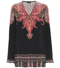 Etro Top - Black/Burgundy/Gold