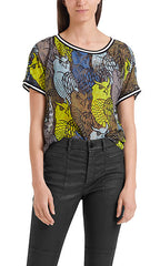 Marc Cain Blouse - Black/Yellow/Blue