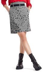 Marc Cain Skirt - Black/White/Red