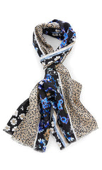 Marc Cain Scarf - Black/Purple/Off-White