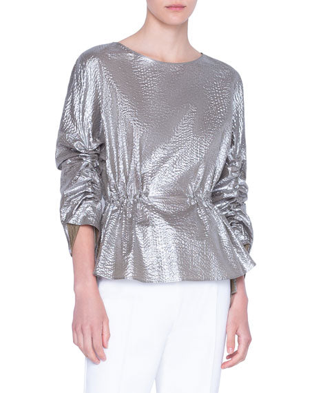 Akris Punto Blouse - Brushed Gold