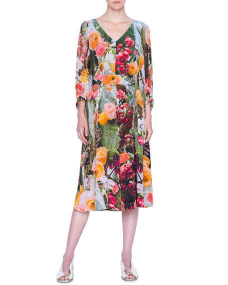 Akris Punto Dress - Multicolor Print