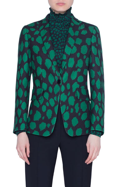 Akris Punto Jacket - Green/Black