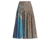 Akris Punto Skirt - Blue/ Beige/Black