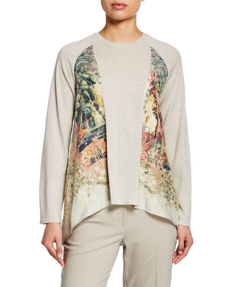 Etro Sweater - Beige/Green/Print