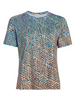 Akris Punto T-Shirt - Blue/Beige/Black