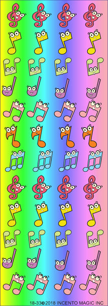 #1833- Musical Notes Stickers