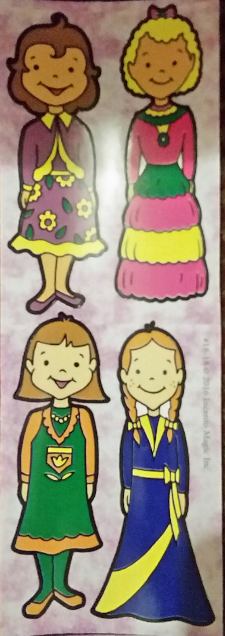#18-18 - Girl Die Cut Stickers 2