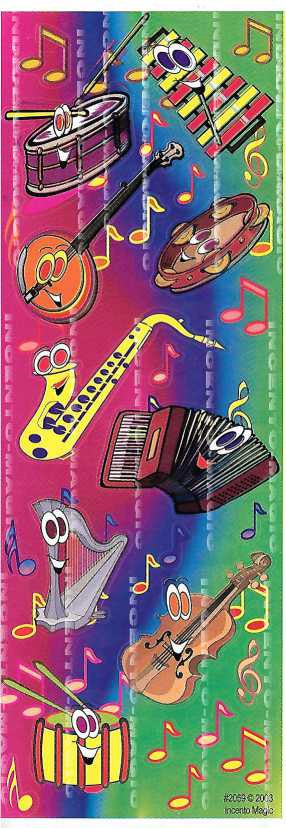 #2059 Musical Instruments Diecut - Incento Magic - 1
