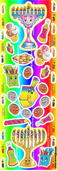 #6031 Chanuka Diecut Stickers  II - Incento Magic