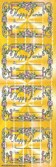 #662S Gold Colored Happy Purim Purim-Mishloach Manos Labels - Incento Magic - 1