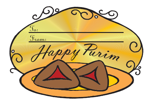 #682 - Purim Labels