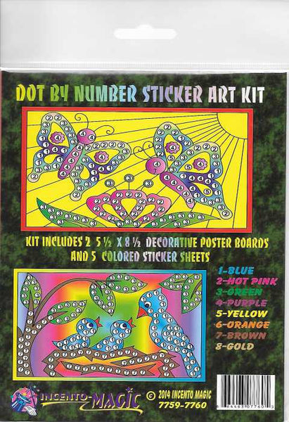 #7759-7760 Butterfly-Bird Dot Art - Incento Magic