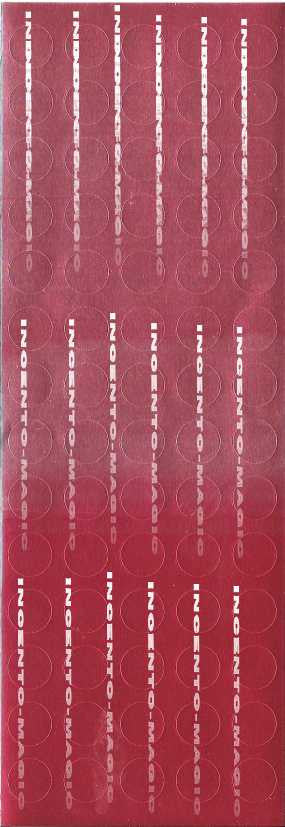 #8008 Red Foil Dots - Incento Magic - 1