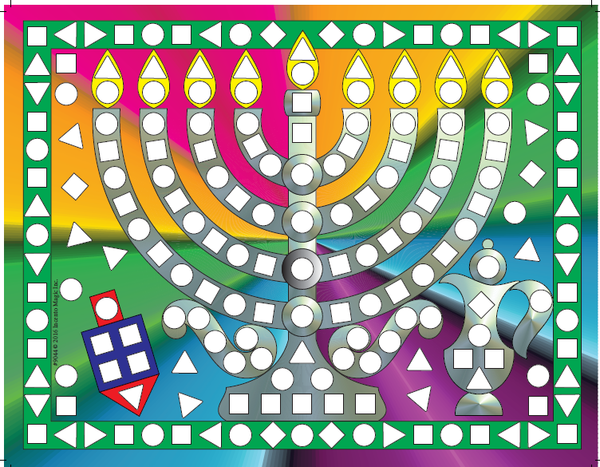 #9044 - Menorah Sticker Activity Kit