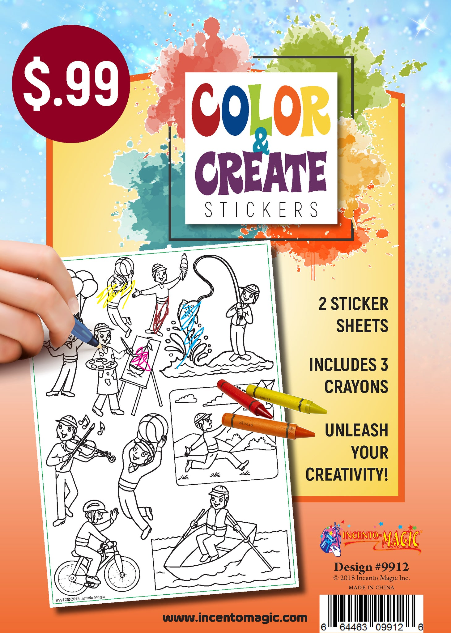 #9912 - Color & Create Stickers