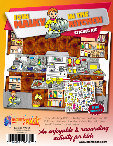 #9018 - Join Malky in the Kitchen Sticker Kit