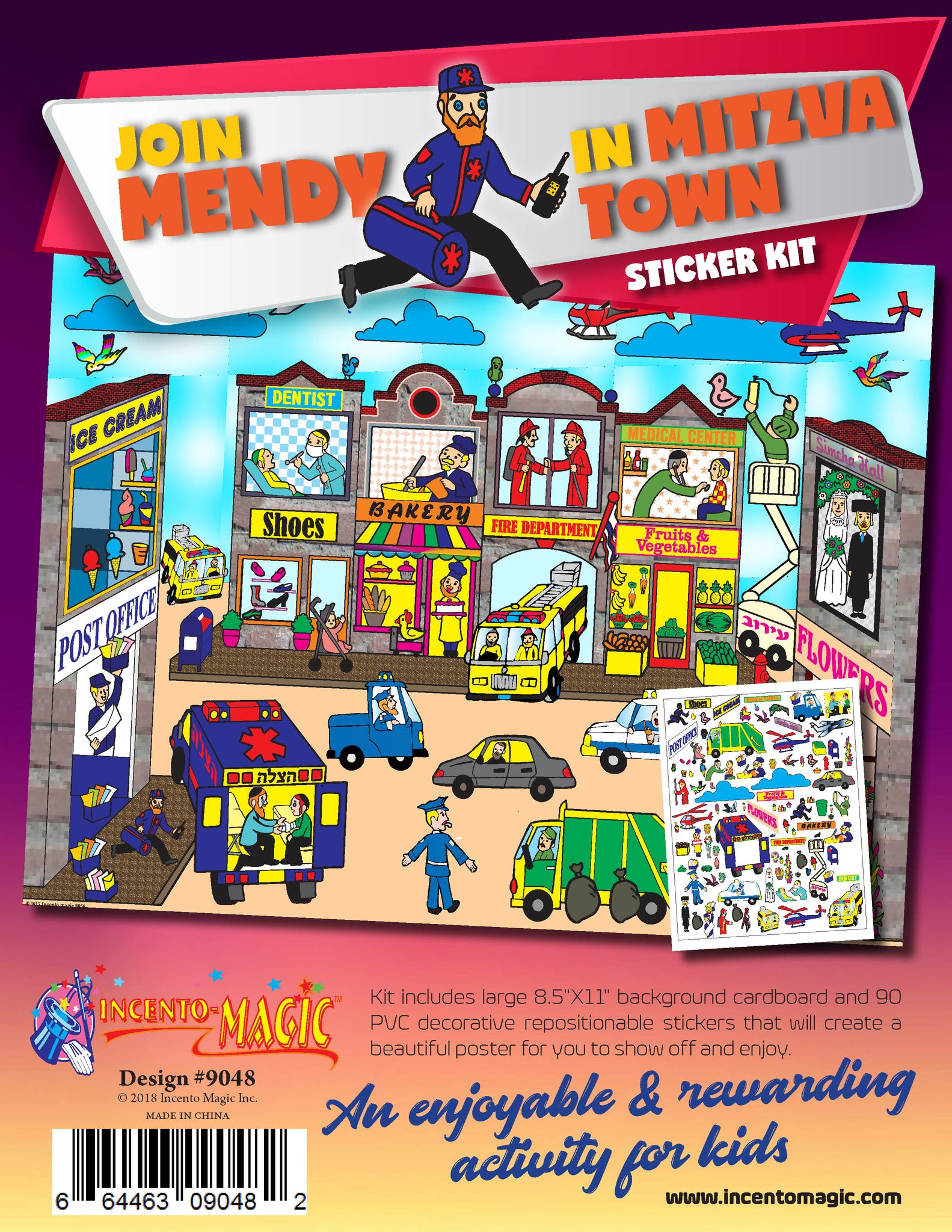 #9048 - Mendy in Mitzvah Town Sticker Kit