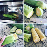 Easy way to shuck corn