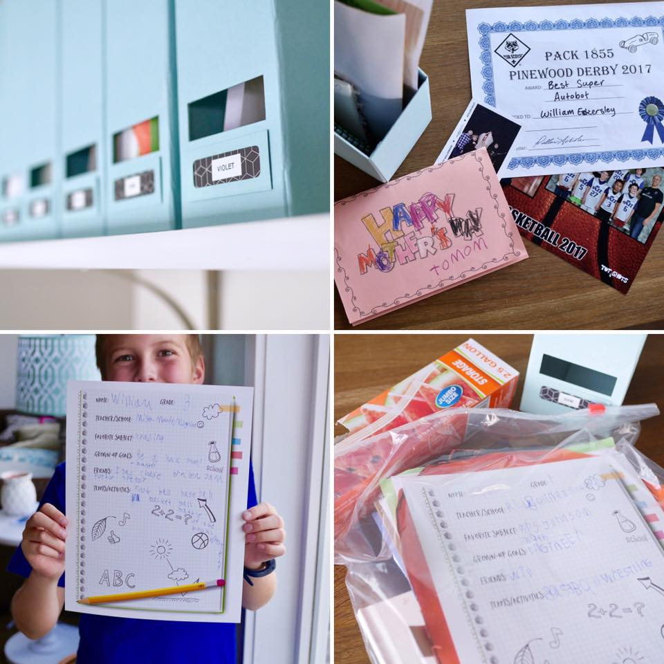 My non-scrapbooker tip for storing art & school work