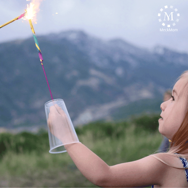 4th of July Mom Hacks: Sparkler Cup