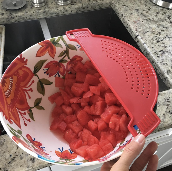Kitchen Hacks: Speedy tool for draining watermelon