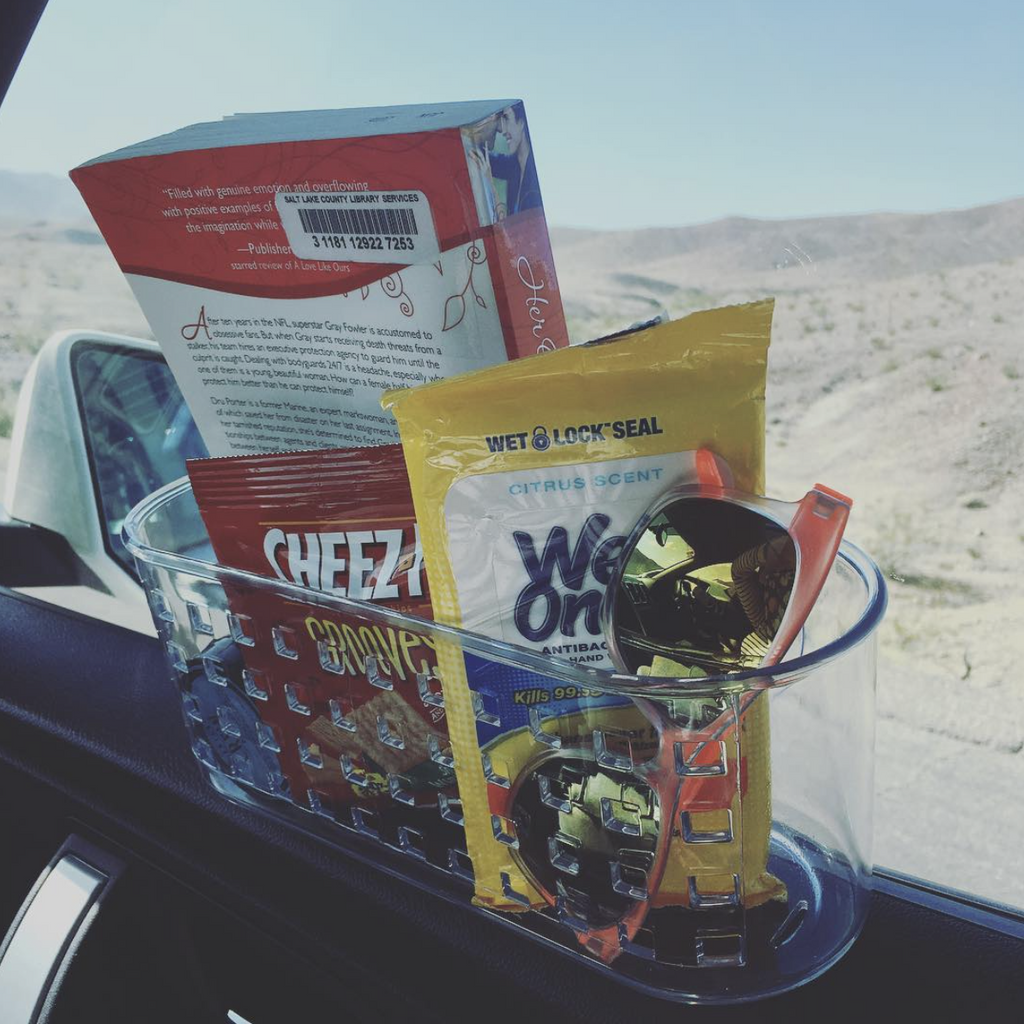Road Trip Hacks: Suction Cup Window Storage