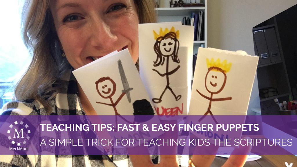 How to teach scripture stories with finger puppets