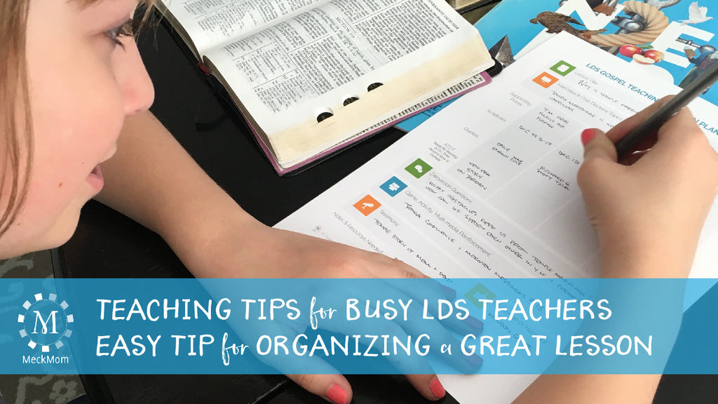 Tips for planning a better church lesson or sacrament talk